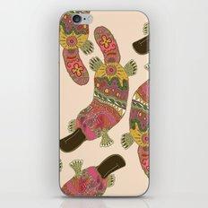 duck-billed platypus linen iPhone & iPod Skin