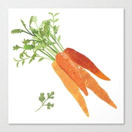 Carrot Illustration Canvas Print