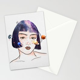 Night chaos. Stationery Cards