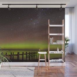 Aurora Boreal Lakeside Wall Mural
