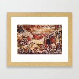 Cerulean Cave painting Framed Art Print