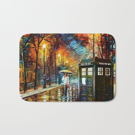 Tardis And Umbrella girl Bath Mat