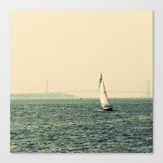 Sailing in NY Harbor Canvas Print