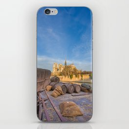 Docks of Notre Dame in Paris iPhone Skin