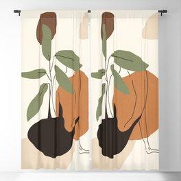 Minimal Line Dress Blackout Curtain