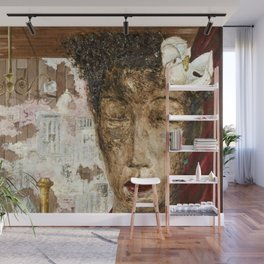 African American Masterpiece 'The Room' by E. Cortor Wall Mural