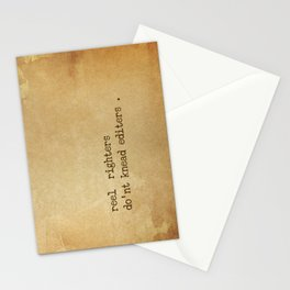reel  righters do'nt knead editers . Stationery Cards
