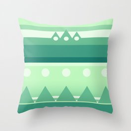 Calm & Green  Throw Pillow