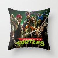 teenage mutant ninja turtles Throw Pillows featuring  teenage mutant ninja turtles by giftstore2u