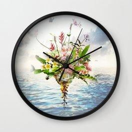 Abundance Of Beauty - Sapphire Blue Ocean Wall Clock