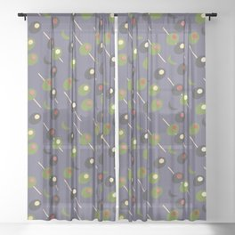 Stuffed Olives Sheer Curtain