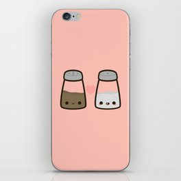 Cute salt and pepper iPhone Skin