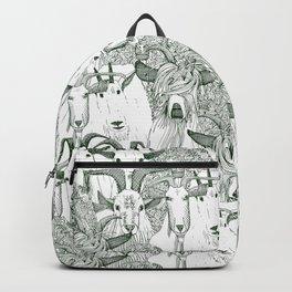 just goats dark green Backpack