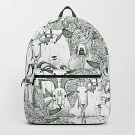 just goats dark green Backpack