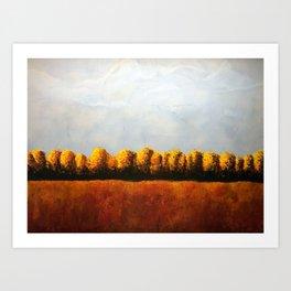 Treeline in Fall Art Print