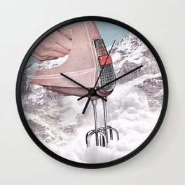 Doris Whisker - Avalanche whipped cream Wall Clock