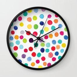 Color Pop Confetti Dots Wall Clock
