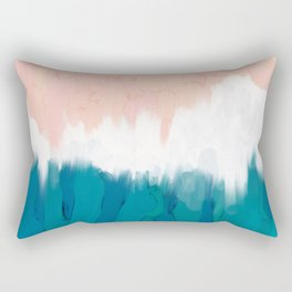 turquoise thick acrylic painting sea Rectangular Pillow