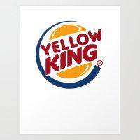 Yellow King Logo Art Print