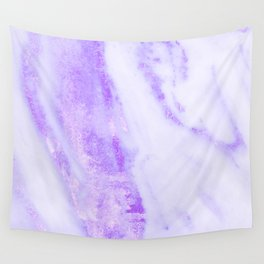 Shimmery Violet Purple Marble Metallic Wall Tapestry