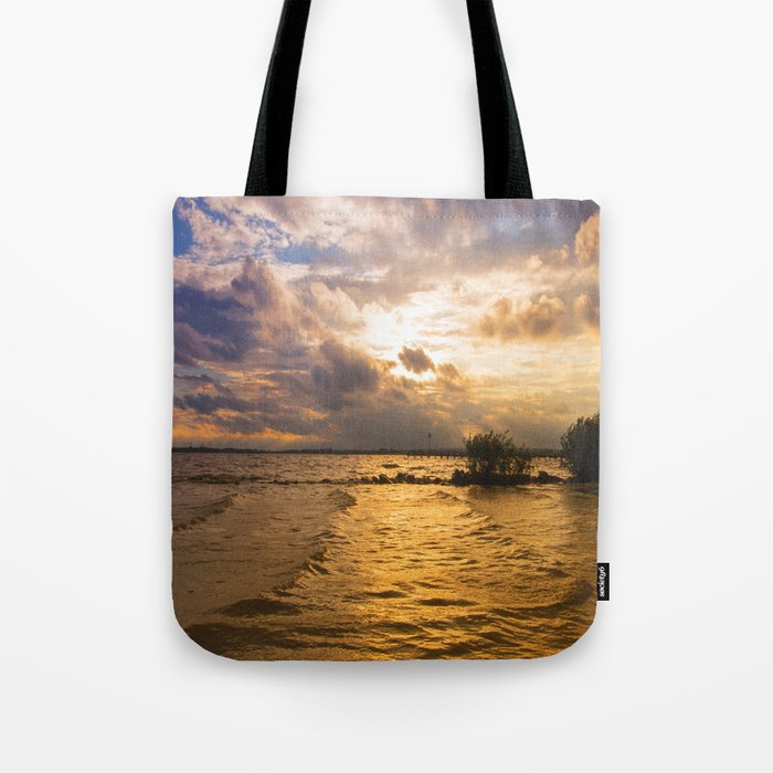 Weather over the lake Tote Bag
