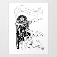 klimt Art Prints featuring Klimt reloaded by Riccardo Fortuna