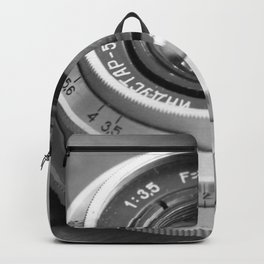 Accessories from old film cameras. Backpack