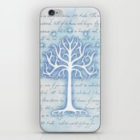 gondor iPhone & iPod Skins featuring Tree of Gondor by JadeJonesArt