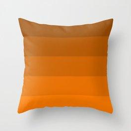 Orange Brown Stripes Throw Pillow