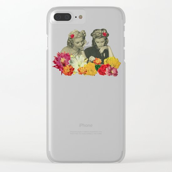 Flower Collectors Clear iPhone Case