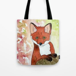 Peek-A-Boo Fox Tote Bag