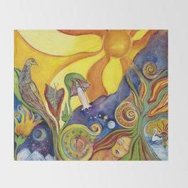 The Dream Whimsical Modern Alice In Wonderland Fantasy Psychedelic Art Throw Blanket