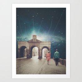 We met as Time Travellers Art Print