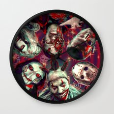 Twisty Jigsaw Jason Voorhees Terminator Psychedelic Spook Show Wall Clock