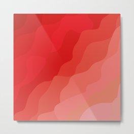 vague rouge Metal Print