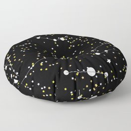 black constellation Floor Pillow