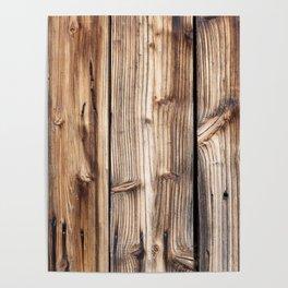 Wood pattern Poster