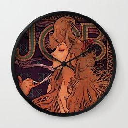 Alphonse Mucha Art Nouveau Wall Clock