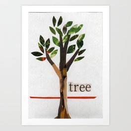 Arbor Day Tree Art Print