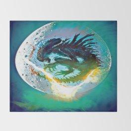 Monster Inside Egg Throw Blanket