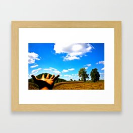 Change my world in the palm of your hands... Framed Art Print