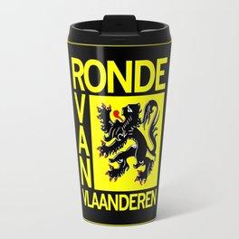 Ronde Van Vlaanderen Tourof Flanders Bicycle Racing Advertising Print Travel Mug