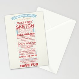 29 Ways to Stay Creative Stationery Cards