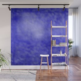 Neon Blue Metallic Foil Wall Mural