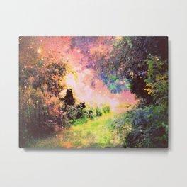 Fantasy Garden Path Deep Pastels Metal Print
