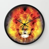 lion king Wall Clocks featuring lion king by Ancello