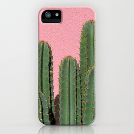 Cactus on Pink, Melrose Place iPhone Case
