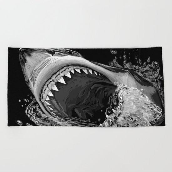 Shark Painting 2 Beach Towel