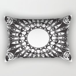Art Nouveau Mandala Rectangular Pillow
