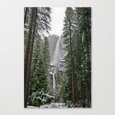 Yosemite Winter Falls Canvas Print